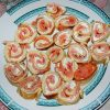 Soft rolls with salmon