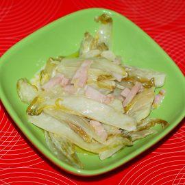 Belgian endive salad fried